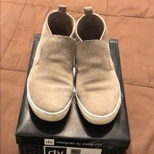 Dolce Vita Roselyn Taupe Brown Sneakers